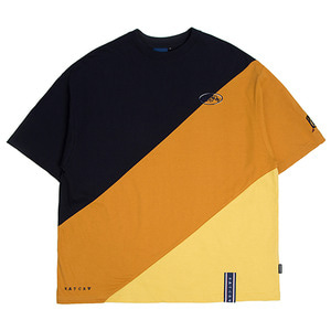 Division Color Block T Shirt_Mustard