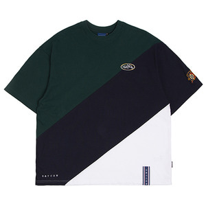 Division Color Block T Shirt_Navy