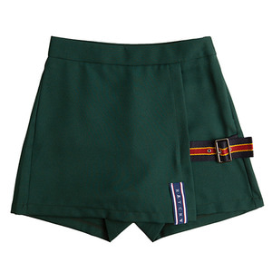 Lap Skirt Pants_Green