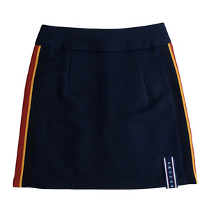 Band Line Skirt_Navy