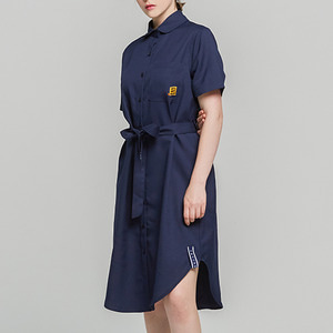 Single Fabrick Button Dress