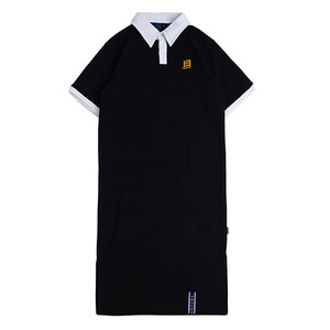 Collar Cotton Dress_Navy