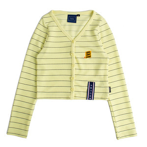 STRIPE KNIT CARDIGAN_YELLOW