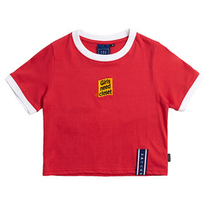 GNAC Crop T Shirt_Red