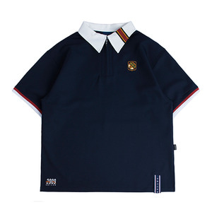 Half Zip Up Bowling Shirt_Navy
