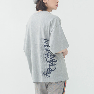 Overlap Logo T Shirt_Grey
