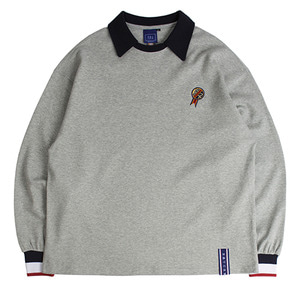 24h Collar Crew Neck_Grey