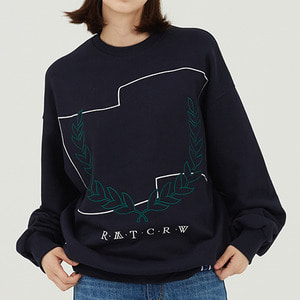 Laurel Crown Sweatshirt_Navy