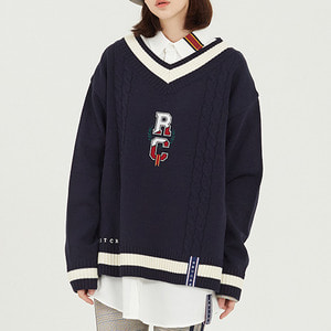 RC V Neck Knit_Navy