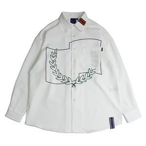 Laurel Crown Shirt_White