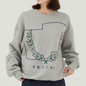 Laurel Crown Sweatshirt_Grey