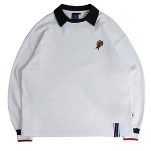 24h Collar Crew Neck_White