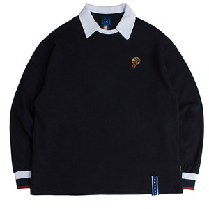 24h Collar Crew Neck_Navy