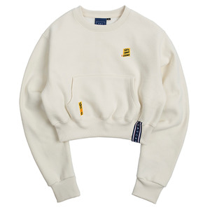 Pocket Crop Sweat Shirt_Oatmeal