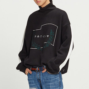 Half Zip Up Turtleneck_Black