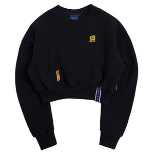 Pocket Crop Sweat Shirt_Navy
