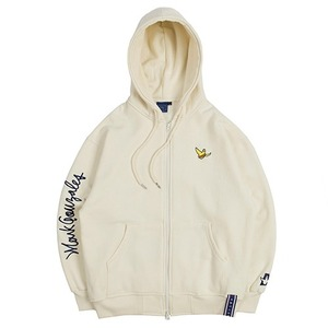 [R.C X M.G]Flag GONZ Hood Zip Up_Oatmeal