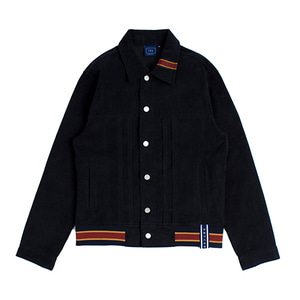 Color Tape Corduroy Jacket_Navy