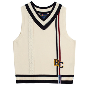 RC Double Line Vest_Oatmeal