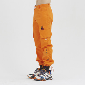 Big Pocket Cotton Pants_Orange