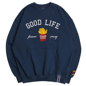 10th Good Life Sweat Shirt_Blue