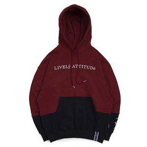10th Lively Wide Hoodie_Burgundy