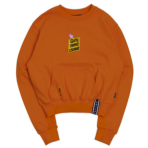 Post Logo Pocket Sweat Shirt_Orange