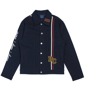 RC Double Line Trucker Jacket_Navy