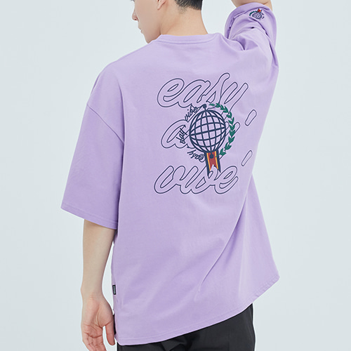 Easy Day Vibe T Shirt_Purple