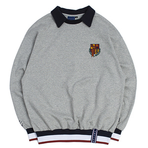 E.D.V Collar Crew Neck_Grey
