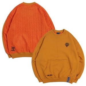 E.D.V Reverse Knit Crewneck_Yellow