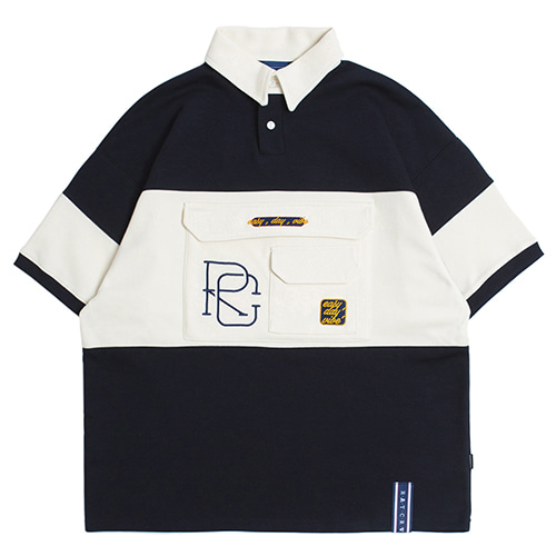 RC Big Pocket Polo Shirt_Navy