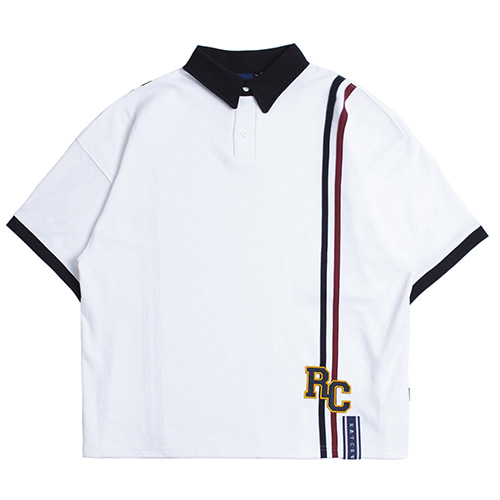 RC Double Line Polo Shirt_White