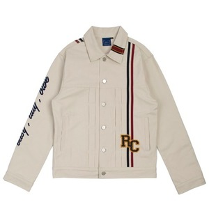 RC Double Line Trucker Jacket_Oatmeal