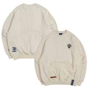 E.D.V Sweat Knit Crewneck_Oatmeal