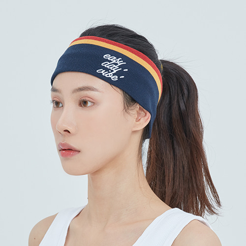 E.D.V LINE HAIR BAND_NAVY