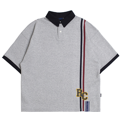 RC Double Line Polo Shirt_Grey