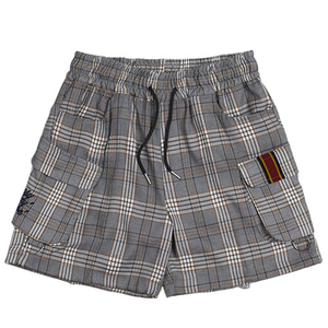 E.D.V SHORT CHECK PANTS_BLACK