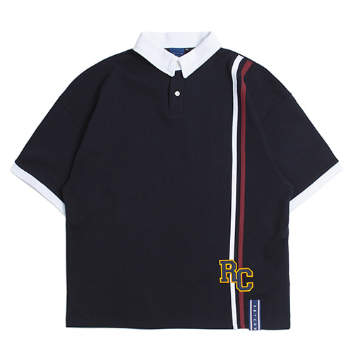 RC Double Line Polo Shirt_Navy