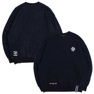 E.D.V Sweat Knit Crewneck_Navy