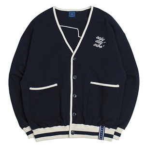 E.D.V Button Cardigan_Navy
