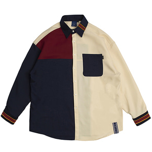 [4/10 예약발송]Color Block Shirt_Navy