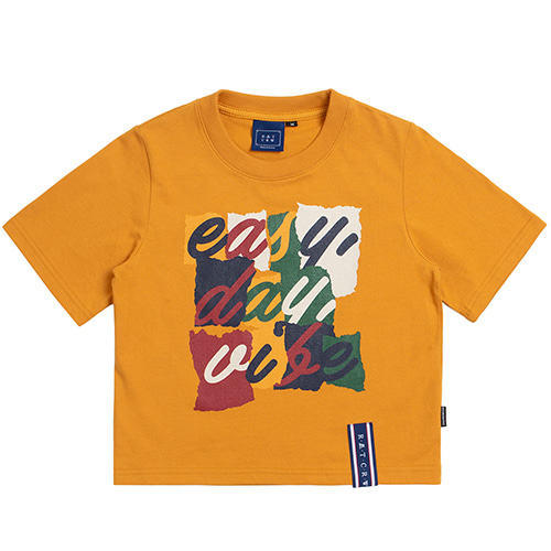 E.D.V Splinter Crop T Shirt_Yellow