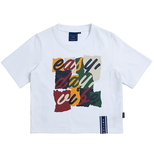 E.D.V Splinter Crop T Shirt_White