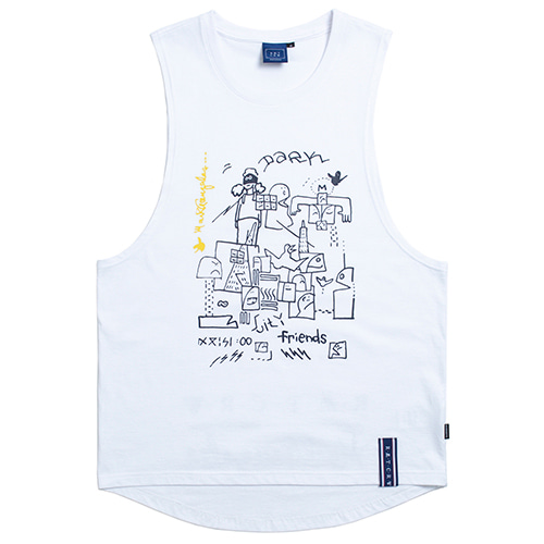 [R.C X M.G]City Friends Sleeveless_White