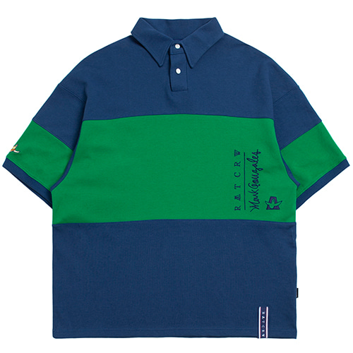 [R.C X M.G]Angel Polo T Shirts_Blue