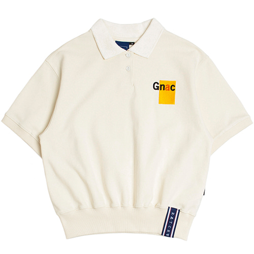 GNAC Polo T Shirt_Oatmeal