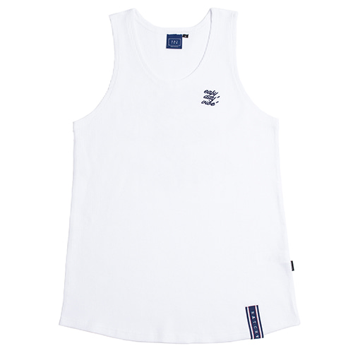 E.D.V Out Line Sleeveless_White