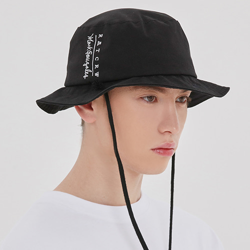 [R.C X M.G]Travel Bucket Hat_Black