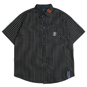 E.D.V Stripe Half Shirt_Black